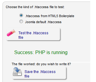 Joomla .htaccess working